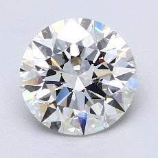 2.01-Carat Round Diamond Ideal G VVS2