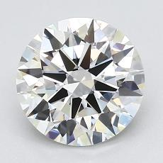 2.01-Carat Round Diamond Ideal G VVS1