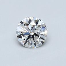 0,50 Carat Rond Diamond Idéale D IF