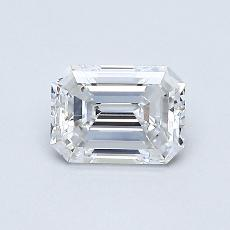 0,61-Carat Emerald Diamond Very Good D VVS1