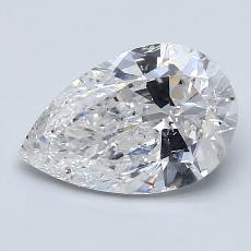 1.50 Carat 梨形 Diamond 非常好 E SI2