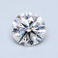 1,00 Carat Rond Diamond Idéale H VS2