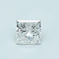 0.51-Carat Princess Diamond Very Good D SI1