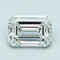 1.51-Carat Emerald Diamond Very Good F VVS1