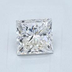 1,01 Carat Princesse Diamond Très bonne E VVS2