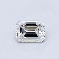 0.51-Carat Emerald Diamond Very Good D VVS1