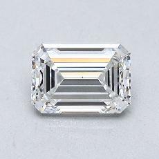 0,82-Carat Emerald Diamond Very Good D VS1