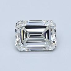 0.81-Carat Emerald Diamond Very Good H IF