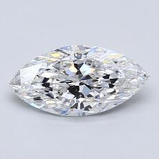 1.30-Carat Marquise Diamond Very Good D IF