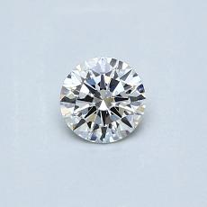 0.30-Carat Round Diamond Ideal F VVS1