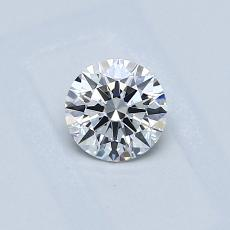 0.40-Carat Round Diamond Ideal E VVS1