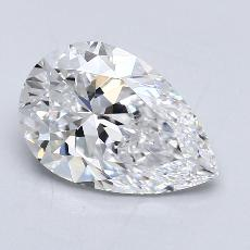 2.03-Carat Pear Diamond Very Good D IF