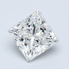 1.25-Carat Princess Diamond Very Good F VVS2