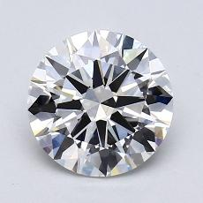 1.66-Carat Round Diamond Ideal G VVS2