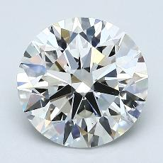 2.06-Carat Round Diamond Ideal G VS2