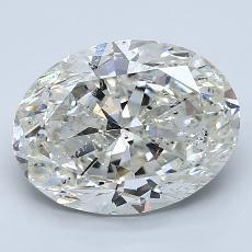 3.00 Carat 椭圆形 Diamond 非常好 I SI2
