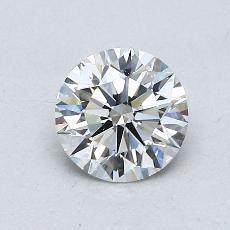 0.77-Carat Round Diamond Ideal H VS1