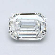 1.00-Carat Emerald Diamond Very Good F SI2
