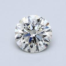 0,90 Carat Rond Diamond Très bonne K SI2