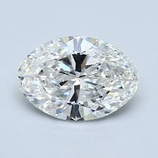 推薦鑽石 #1: 1.04  克拉橢圓形切割