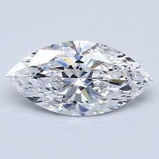 目前的寶石: 1.02 克拉欖尖形切割