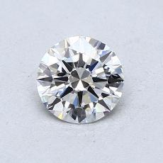 0,60 Carat Rond Diamond Idéale G IF