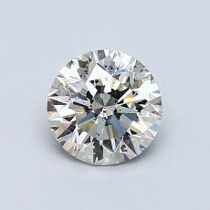 0,80 Carat Rond Diamond Idéale K SI2
