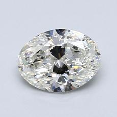 1.20 Carat 橢圓形 Diamond 非常好 J SI1