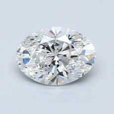 1.01 Carat 橢圓形 Diamond 良好 F VS1