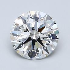 1.70-Carat Round Diamond Ideal H VVS2