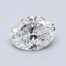 1.00 Carat 椭圆形 Diamond 非常好 F VS1