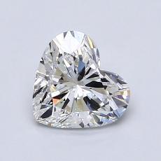 1.00-Carat Heart Diamond Very Good E SI1