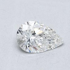 0.50-Carat Pear Diamond Very Good G VVS2