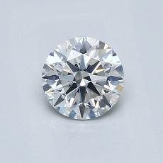 0.61-Carat Round Diamond Ideal G VS2