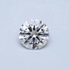 0.32-Carat Round Diamond Ideal E SI1