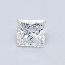 0.53 Carat 公主方形 Diamond 非常好 D VVS2