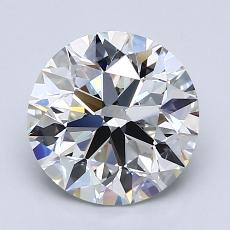 2.01-Carat Round Diamond Ideal H VVS2