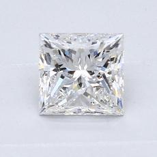 0.91 Carat 公主方形 Diamond 非常好 F VS2