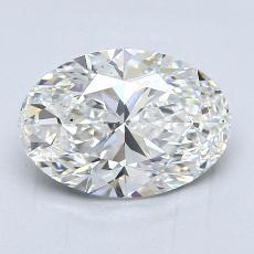 2.02 Carat 椭圆形 Diamond 非常好 G VS2