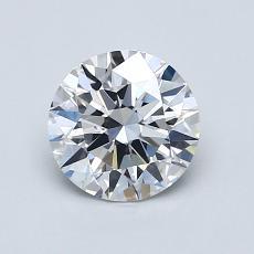 1.00 Carat 圆形 Diamond 理想 D VVS2
