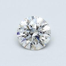 0,51-Carat Round Diamond Ideal J SI2