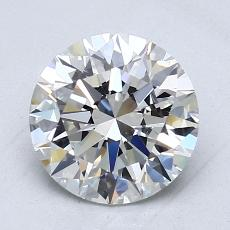 2.01-Carat Round Diamond Ideal F VVS1