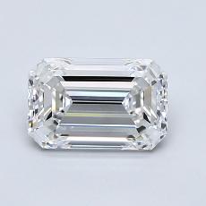 1.10-Carat Emerald Diamond Very Good E IF