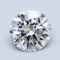 1,51 Carat Rond Diamond Idéale D VVS1
