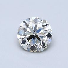 Piedra recomendada 1: Talla redonda de 0.70 quilates