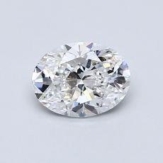 0.70 Carat 橢圓形 Diamond 非常好 E VS1