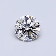 0,51 Carat Rond Diamond Idéale K SI1