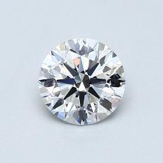 0.60 Carat 圓形 Diamond 理想 D VS2