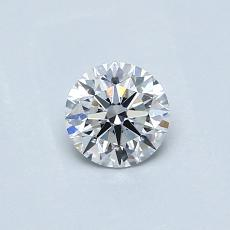 0.42-Carat Round Diamond Ideal E VVS2