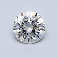 0.70-Carat Round Diamond Ideal E VVS1